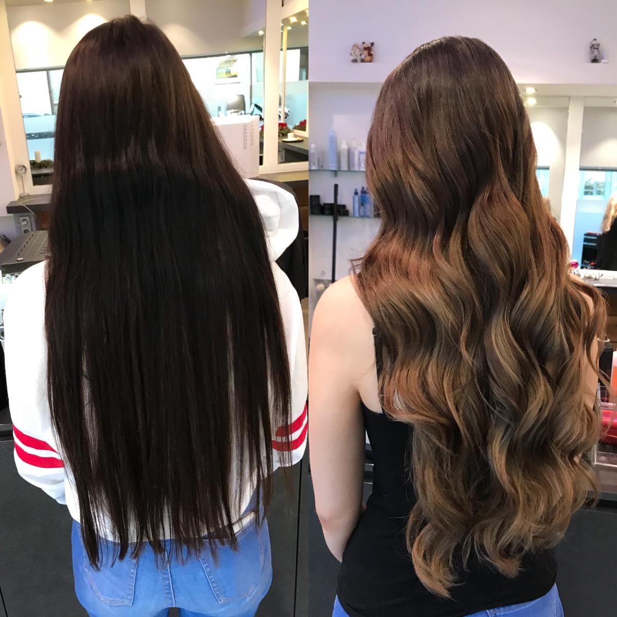 Haare aufhellen schwarze Haare, aufhellen